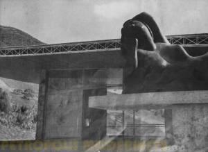 Detalhe da escultura Guanabara.