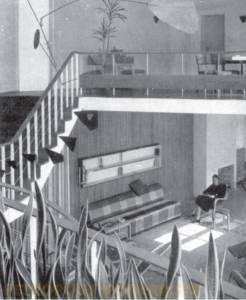 O grande conector da casa formado por todas as salas.