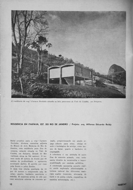 Revista Habitat 71, pag 10. 1952